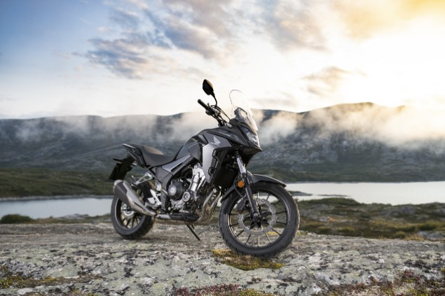 2019 Honda CB500X with Africa Twin-inspired bodywork stationary