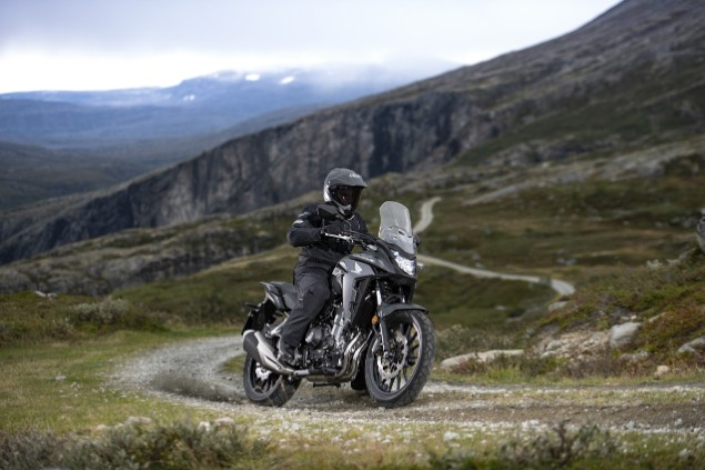 2019 Honda CB500X motorcycle riding up mountains