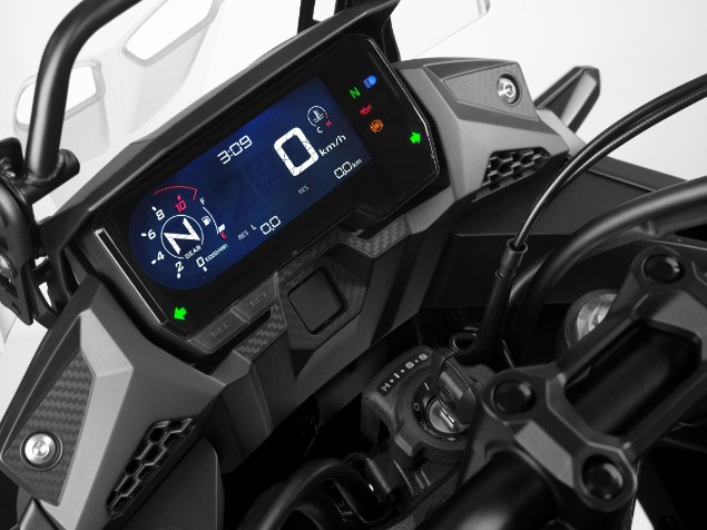 Honda CB500 X motorcycle LCD dash
