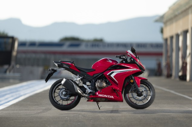 Red Honda CBR500R stationary