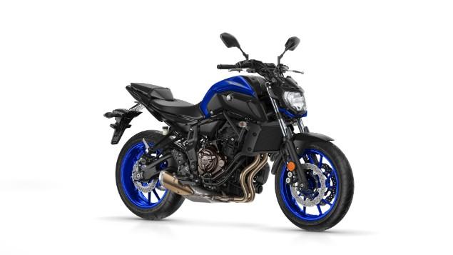 2018 Yamaha mt07 motorbike stationary