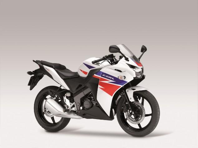 Honda CBR 125R motorbike stationary
