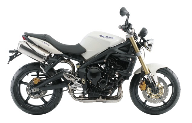 Triumph street triple 675 motorcycle stationary