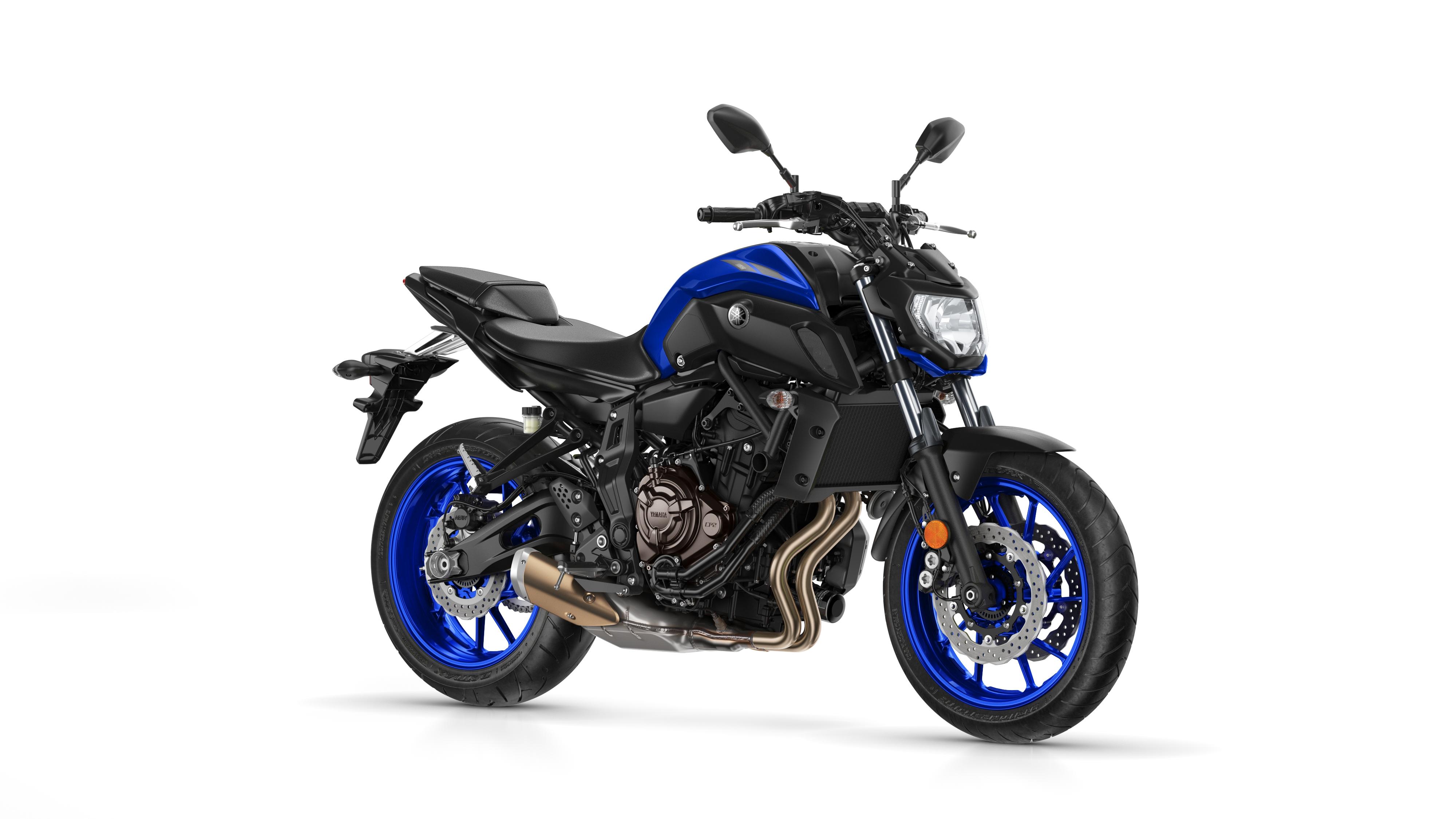 Blue 2018 Yamaha MT07 Motorcycle stationary