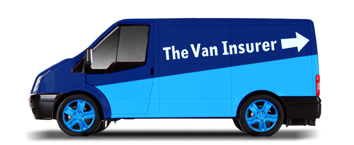 van modified to have The Van Insurer logo on the side