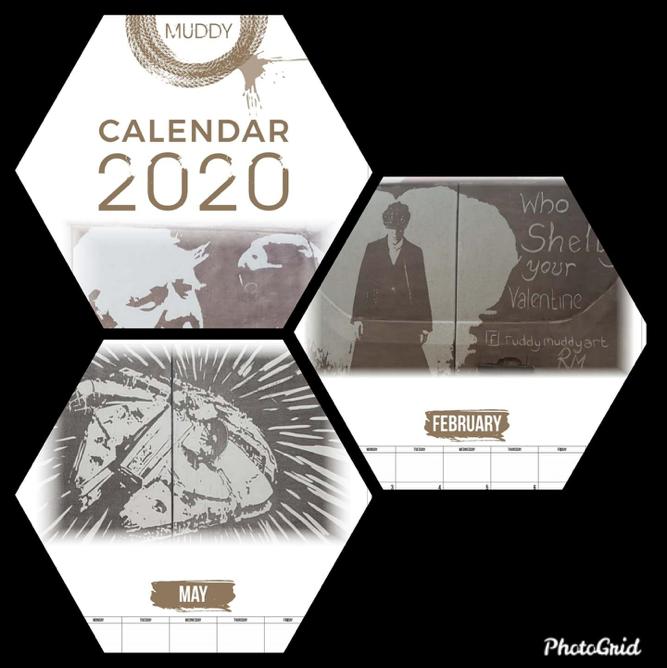 Ruddy Muddy 2020 calendar