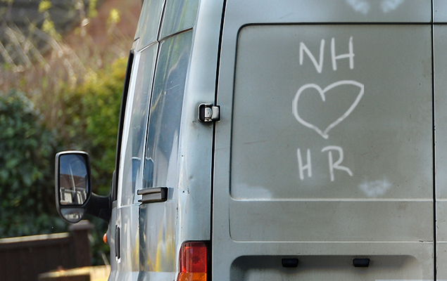 Dirty van with love heart