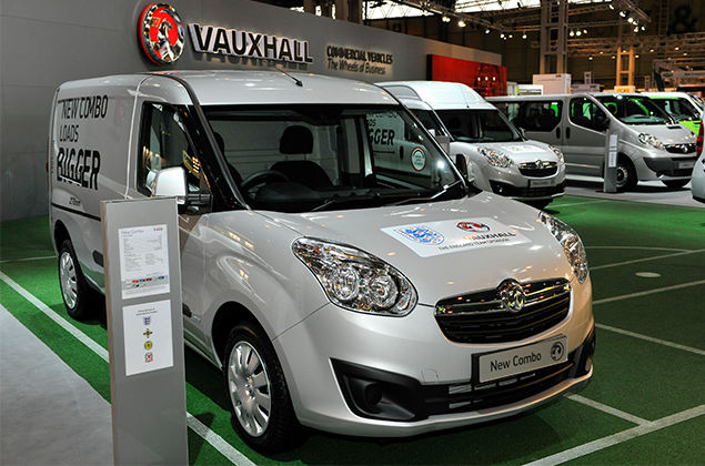 Vauxhall New Combo van stationary 2018