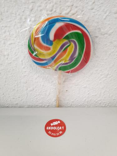 Piruleta de caramel multicolor