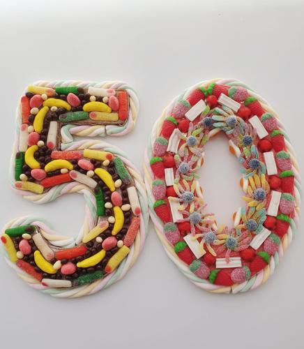 Pastís dolç en forma de número (2 xifres)