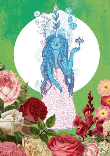 Ilustración Diosa de la Armonía tamaño A4