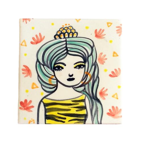 Azulejo pequeño diosa Freya