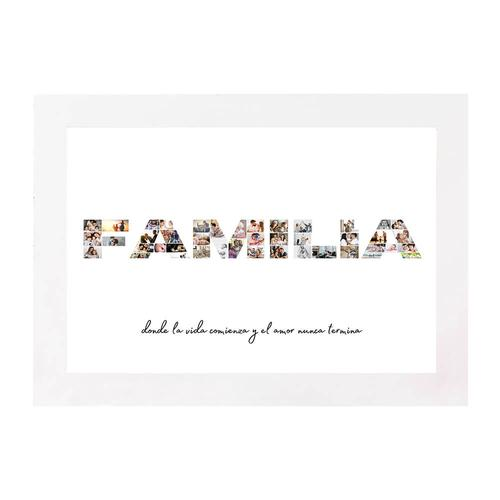 Lámina DIN A4 Familia - Familia Collage