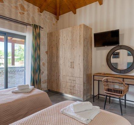 Υπνοδωμάτιο Superior Βίλας με δύο Μονά κρεβάτια