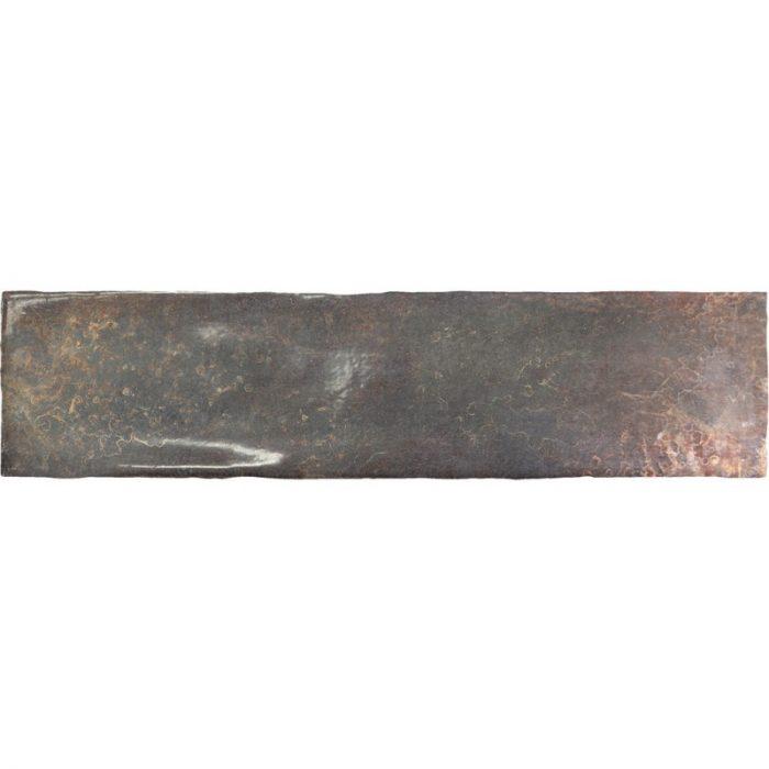 אריח בריק לחיפוי קירות גוף לבן גוון חום גימור מבריק 7.5x30 תוצרת ספרד