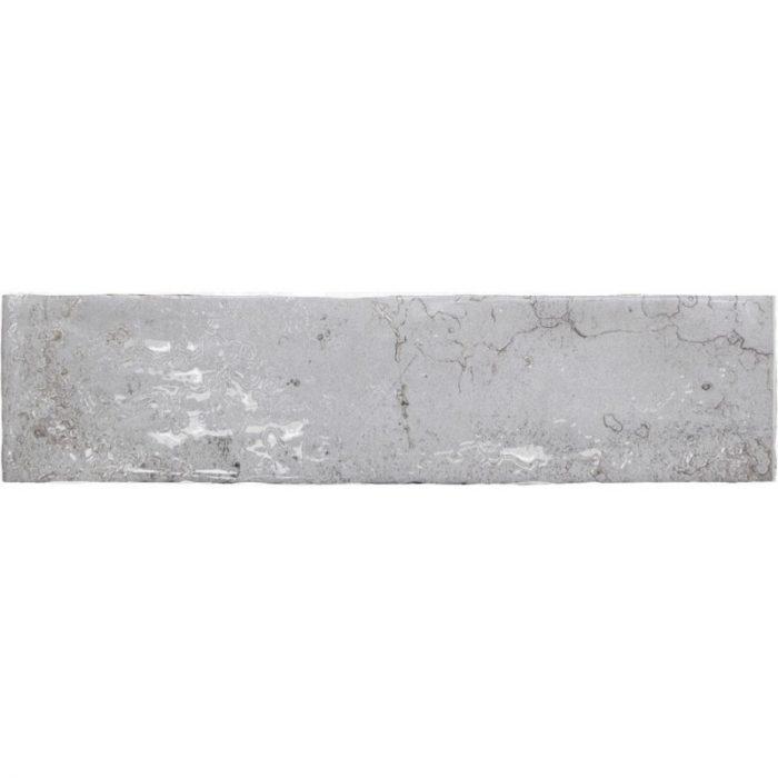 אריח בריק לחיפוי קירות גוף לבן גוון אפור גימור מבריק 7.5x30 תוצרת ספרד