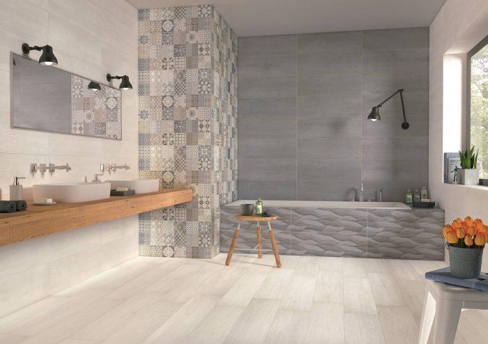 אריח קרמיקה מצויר לחיפוי קירות תוצרת ספרד גימור מט 25x75