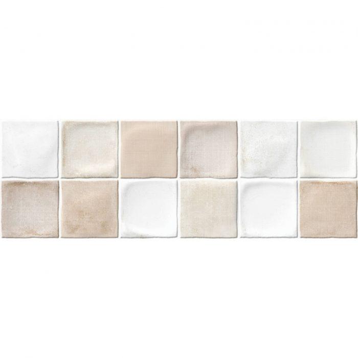 אריח דקור קוביות קרמיקה לחיפוי קירות תוצרת ספרד גוון קרם 20x60