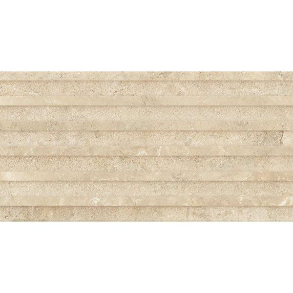 חיפוי דקור גרניט פורצלן | אריחים תוצרת ספרד גימור מט גוון קרם 62.5x32