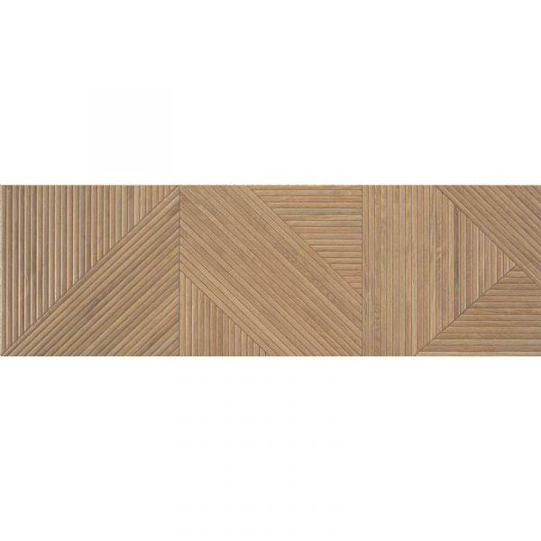 אריח קרמיקה לחיפוי בסגנון עץ מובלט תוצרת ספרד 31.6X100