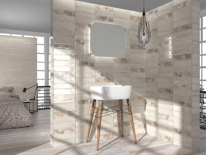 אריח דקור קרמיקה מצויר לחיפוי קירות תוצרת ספרד 40x120