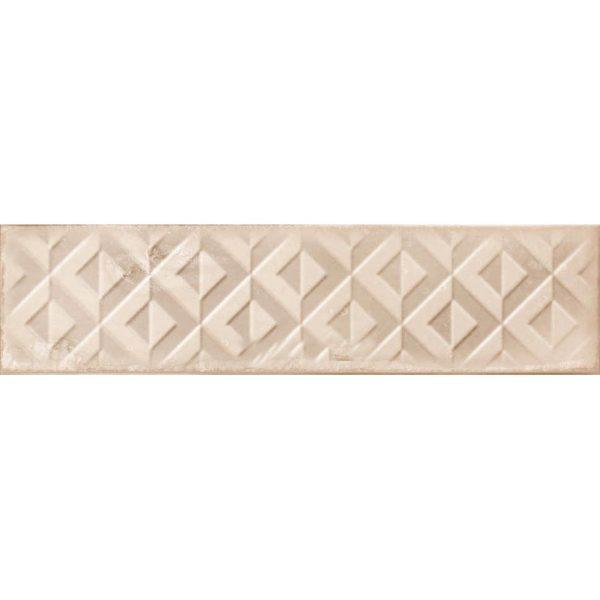בריק דקור לחיפוי קירות גוף לבן גוון בז גימור מבריק 7.5x30 תוצרת ספרד
