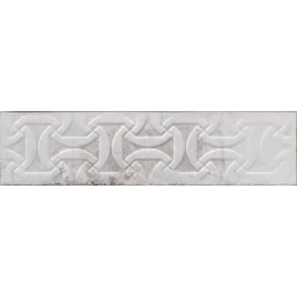 בריק דקור לחיפוי קירות גוף לבן גוון אפור גימור מבריק 7.5x30 תוצרת ספרד