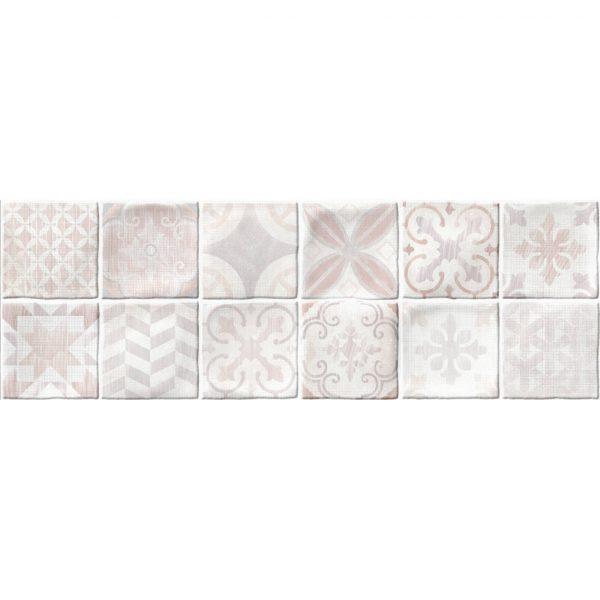 אריח דקור קוביות מצוירות קרמיקה לחיפוי קירות תוצרת ספרד גוון אפור 20x60