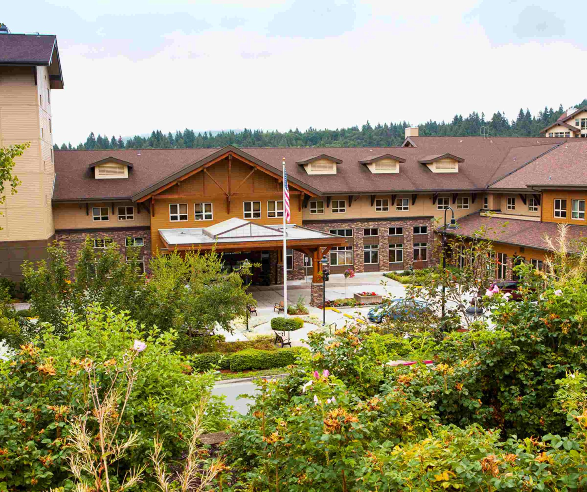 exterior of timber ridge senior living