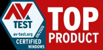 Total AV est classé comme TOP PRODUIT par AV-Test