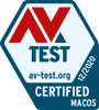 TotalAV para Mac está CERTIFICADO por AV-Test