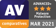 TotalAV is rated as ADVANCED+ by AV Comparatives