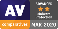 Der gesamte AV-Malware-Schutz wurde von AV Comparatives als ERWEITERT eingestuft