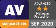 Total AV wurde von AV Comparatives für den Schutz vor Malware erneut als ERWEITERT eingestuft