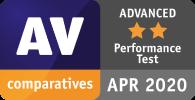 Punteggio AV totale AVANZATO nei test delle prestazioni di AV Comparatives