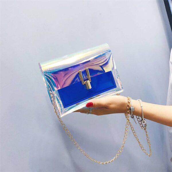 Crossbody Bags for Women 2019 Laser Transparent Bags Fashion Women Korean Style Shoulder Bag Messenger PVC Waterproof Beach Bag Uncategorized cb5feb1b7314637725a2e7: 2Pcs Laser Blue Pink Silver