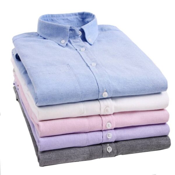 Long-sleeved shirt male 2019 spring and autumn new simple solid color wild Oxford cloth Slim urban casual large size shirt M-5XL Londoners Vanity Men's Plus Size formal Shirts Mens Plus Size cb5feb1b7314637725a2e7: NF01|NF02|NF03|NF05|NF06|NF07