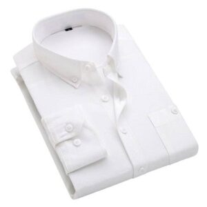 2018 autumn and winter new British wind corduroy solid color shirt men's long-sleeved wild large size shirts M-5XL Londoners Vanity Men's Plus Size formal Shirts Mens Plus Size Color: White Size: 5XL for 89-94 kg