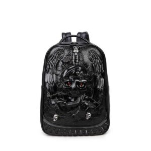 3d Fashion Personality Skull Leather Backpack Rivets Mens Back Pack Bag Japanese Bag Backpack Our British Brands Selected Brands Timelord Clothing UK cb5feb1b7314637725a2e7: Black|Gold|Silver