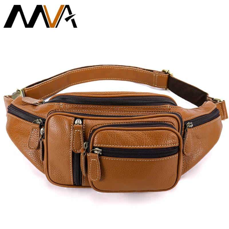 Men Genuine Leather Belt Bag Waist Fanny Pack Cell Phone Pouch Wallet Purse CHIC