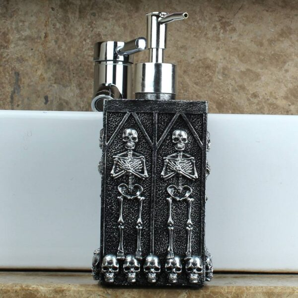 1pc Skull Shower Gel Dispenser Bottle Liquid Soap Dispenser Pump Hand Sanitizer Shampoo Lotion Bottle with Dispenser 450ml Our British Brands Selected Brands Timelord Clothing UK cb5feb1b7314637725a2e7: Black
