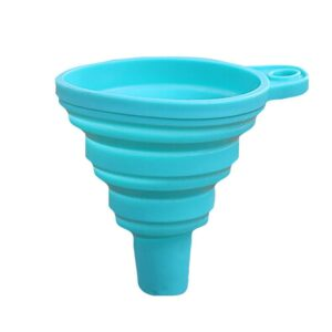 2018 New Silicone Gel Practical Collapsible Foldable Funnel Hopper Kitchen Tool Gadget NE725 Home Decor & Accessories Kitchen Tools & Cooking Accessories Ships From: China Color: Sky blue