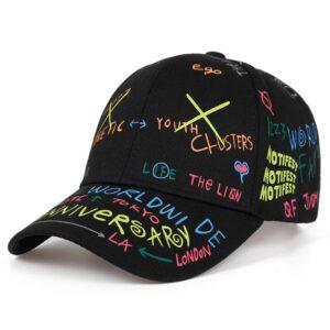 High quality fashion Graffiti printing baseball cap Spring summer outdoor leisure hat Adjustable hip hop street hats Unisex caps Bullet Cheetah Our British Brands Selected Brands cb5feb1b7314637725a2e7: Black|White