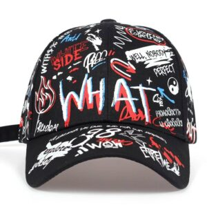 2019 new Fashion Graffiti printing Baseball Cap Outdoor cotton Shade Hat men women Summer Caps adjustable Leisure hats Bullet Cheetah Our British Brands Selected Brands cb5feb1b7314637725a2e7: Black|White