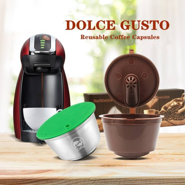 New 3rd Generation Nescafe Dolce Gusto Coffee Capsule Pod Filters Cup Refillable Reusable Dolci Gusto Coffee Dripper Tea Baskets Home Decor & Accessories Kitchen Tools & Cooking Accessories cb5feb1b7314637725a2e7: 1pcs Black 1pcs Brown 3pcs Black 3pcs Brown 6pcs Black 6pcs Brown Crema capsule