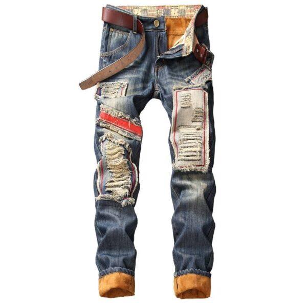 Denim Designer Hole Jeans High Quality Ripped for Men Size 28-38 40 2020 Autumn Winter Plus Velvet HIP HOP Punk Streetwear Man Pants and Trosures cb5feb1b7314637725a2e7: 811 NO BELT USA SIZE|812 NO BELT USA SIZE|814 NO BELT USA SIZE