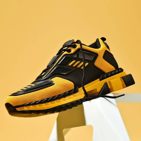 New Designer Four Seasons Running Shoes for Men Air Breathable Lightweight Sports Shoes Yellow Gym Jogging Sneakers Zapatillas Gym & Bodybuilding Men Running Shoes & sneakers Sportswear cb5feb1b7314637725a2e7: 1989Black|1989White|1989Yellow|2929Black|2929Orange|2929Yellow