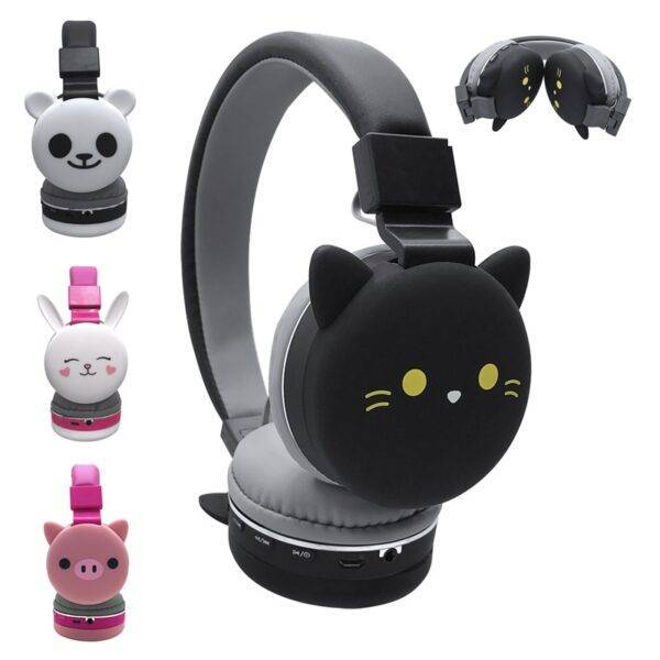 Wireless Cat Ear Headphones Bluetooth Young People Kids Foldable Stereo Headset 3.5mm Plug With Mic FM Radio Jewelery & Apparel Ladies Fashion Accessories