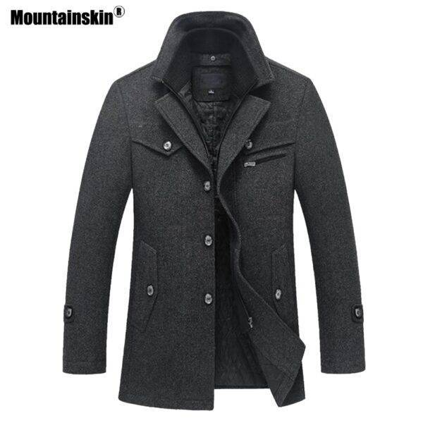 Mountainskin Winter Men Thick Coats Slim Fit Jackets Mens Casual Warm Outerwear Male Woolen Jacket Men Brand Clothing 4XL SA606 Londoners Vanity Men's Blazers & Suits Mens Fashion