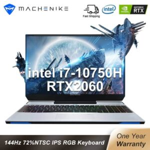 Machenike Gaming Laptop F117 VD1 RTX 2060 i7 10750H 15.6″ 144Hz 72% NTSC 16G RAM 512G SSD IPS Laptops 4 Zone RGB Keyboard Electronics Laptops Portables